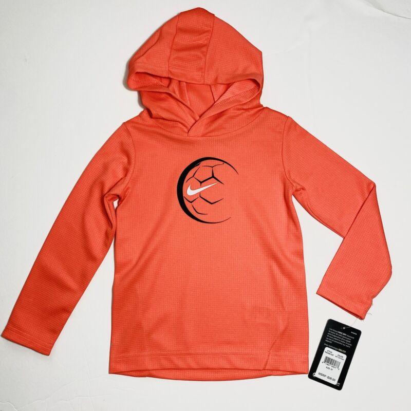 Nike Little Boys Dri-Fit Soccer Graphic Pullover Hoodie Bright Crimson Sz 2T 3T