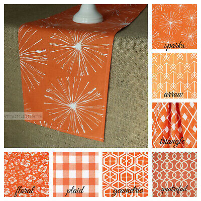 Orange Table Runner Spring Summer Home Decor Table Centerpiece Dining Linens](Spring Table Runners)