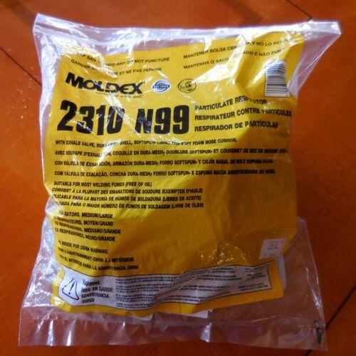 Moldex 2310 N99 Sealed Bag of 10, NIOSH Grade 99, Made in USA - Medium / Large