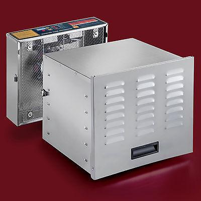 Food Dehydrator - STX Dehydra 1200W-XLS 10 Tray Stainless - 165° F Jerky Safe