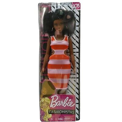Barbie Fashionistas Doll 105 Bold Stripes African American