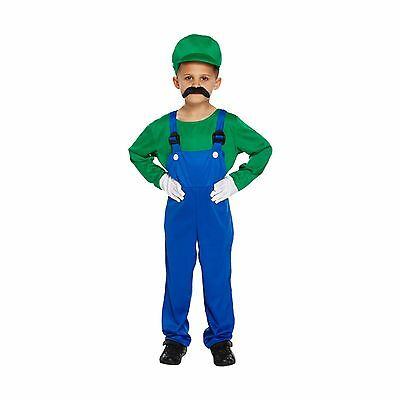 Boys Luigi Mario Brothers Fancy Dress Child Kids - Mario Brothers Outfits