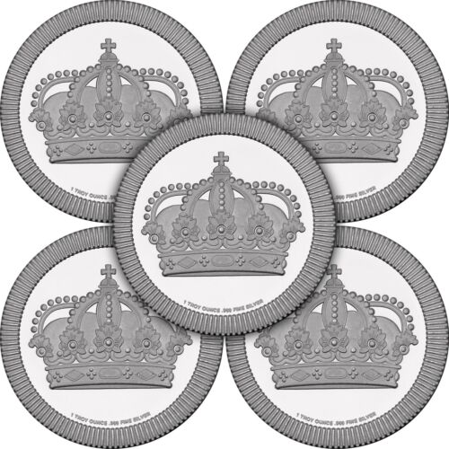 Crown Stackables 1oz .999 Silver Medallion 5pc by SilverTowne