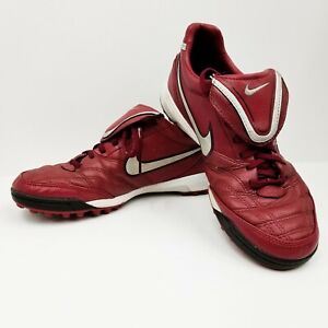 9f2da5338 Nike Tiempo Mystic III TF US8 Indoor Turf Burgundy Legacy Legend 366183 606  EUC
