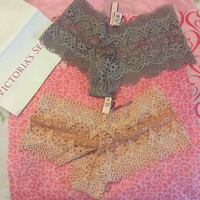 Lacey Boyshorts - NWT Victoria's Secret Cheeky 2 Panties Boyshorts Luxurious Lacey MSRP $25 Each