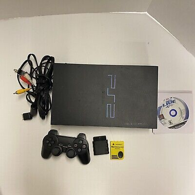 Sony PlayStation 2 PS2 Fat 4 Games Console Bundle 1 Controller Tested Working