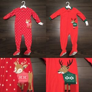 BNWT Carter's 24m & 2T Christmas sleepers