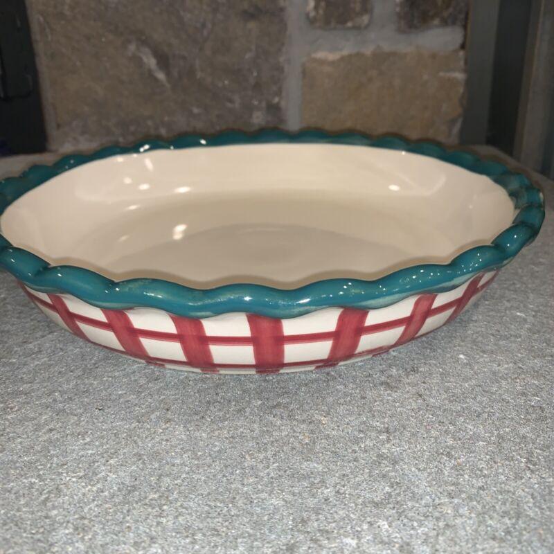 "Designpac Vintage Heavy Ceramic 10.5"" Pie Plate"
