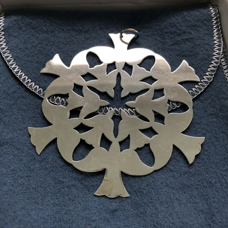 James Avery Sterling Silver Abstract Snowflake Ornament - Peace Bird Doves