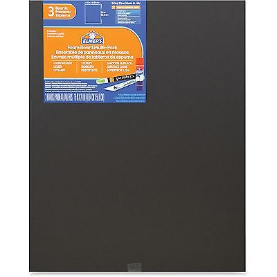 Elmers Foam Board Multi-pack 16x20 3pk Black 950025