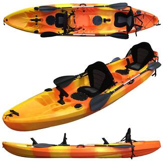 Central coast kayak double fishing kayak with 2 paddles 2 seats