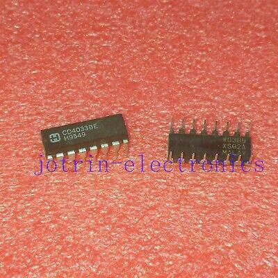 10 Pcs Cd4033be Pdip-16 Cmos Decade Counterdivider With Decoded 7-segment