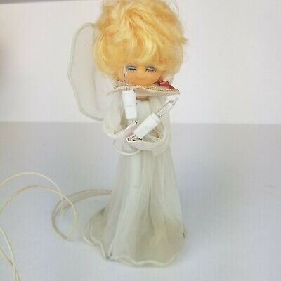 Vintage Angel Tree Topper Simple Light Up Christmas Works Tested blonde ()