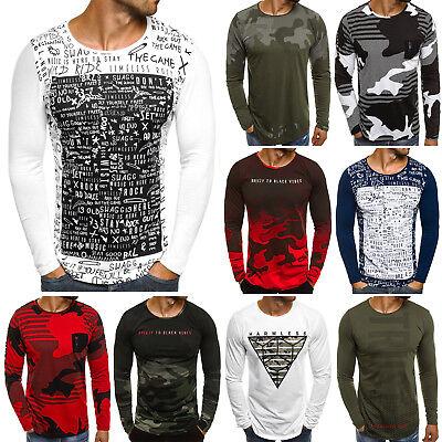 64394c63add8 OZONEE 9108 Herren Longsleeve Langarmshirt Shirt Sweatshirt Motiv MIX фото