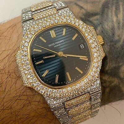 Patek Philippe Nautilus 37.5MM 3800 Steel and Gold VS Diamond Watch 21.0 Ct