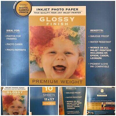 Konica Minolta Inkjet Photo Paper 10 Sheets 11x17 Glossy Finish - Konica Photo Paper