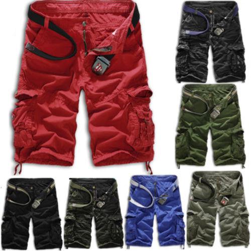 Herren Shorts Sporthose Bermuda Camo Kamp Kurze Hosen Jogging Cargohose Pants 36