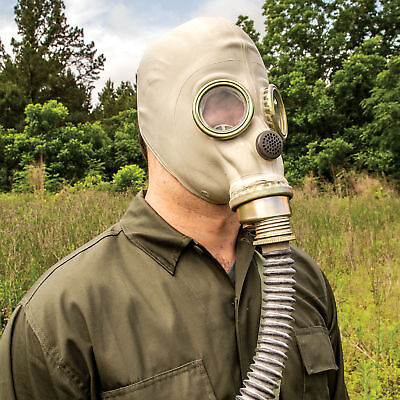 Real Polish Military Gas Mask Hose Respiratory Surplus Chemical Nuclear Warfare