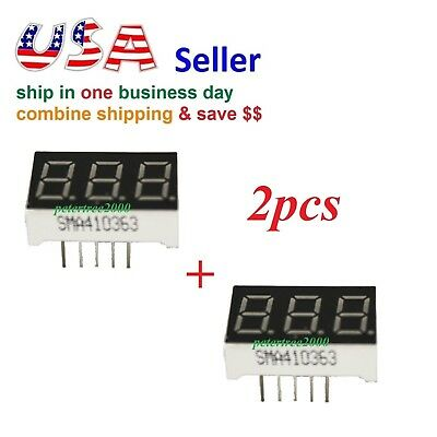2pcs 3 Digit Red 7 Segment Led Display Digital Tube Common Anode 11 Pins Arduino