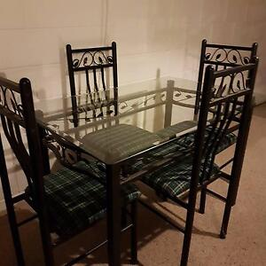 Glass Topped Dining Table &  Chairs Corinda Brisbane South West Preview