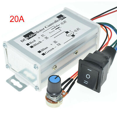 12v 24v 20a Pwm Dc Motor Stepless Variable Speed Control Controller Switch Us