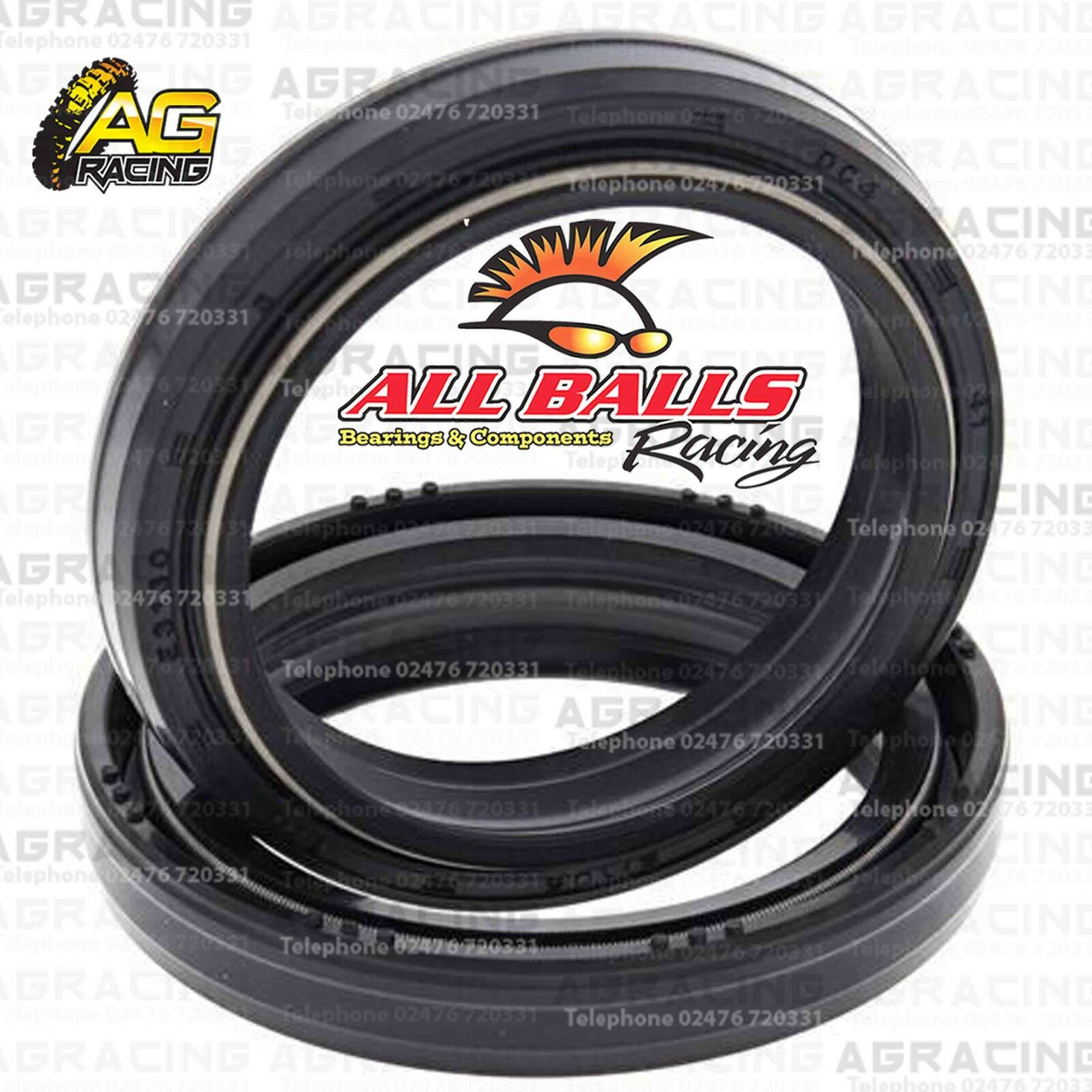 All Balls Fork Oil Seals Kit For Yamaha Yz 250 1989 1990 89 90 Enduro Wiring Harness Motocross