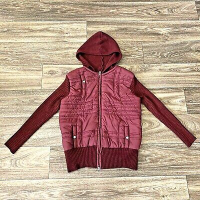 Mossimo Supply Co Womens Hooded Zip Up Jacket  Burgundy Size 16W/18W