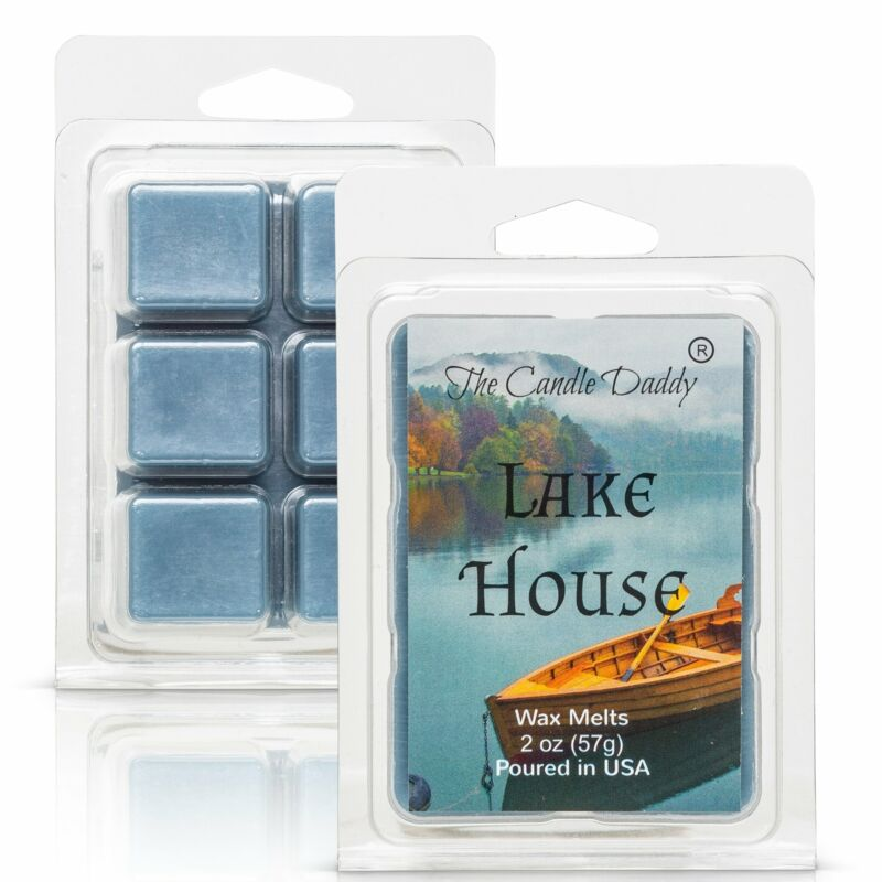 Lake House - Rustic Lake House Scented Melt- Maximum Scent Wax Cubes/Melts- 1 Pa