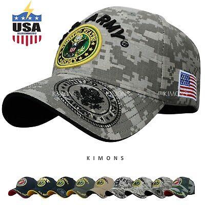 ACU Official Licensed US Army cap American Flag hat Baseball Military Veteran