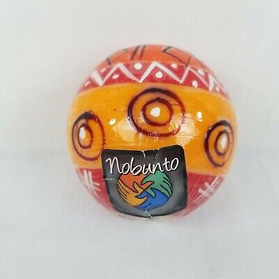 Nobunto Fair Trade Handcrafted Ball Candle Orange Red Made In South Africa for sale  Shipping to India
