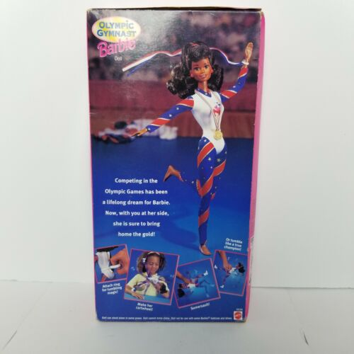 Vintage USA 1996 Olympic Gymnast African American Figure  - $44.12
