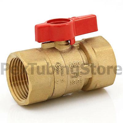 20 1 Ips Brass Gas Ball Valves - Natural Gas Or Propane Csa Shut-off Valve