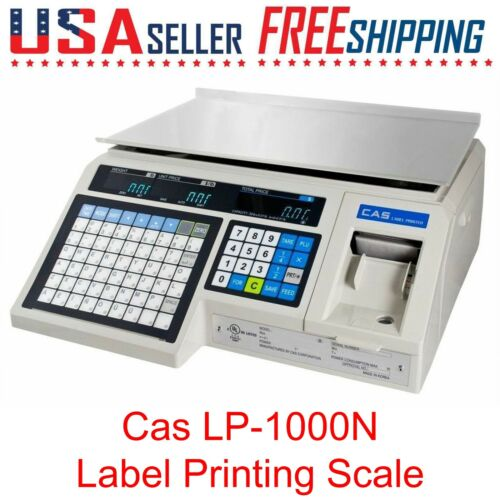 CAS LP-1000N Label Printing Scale Weigh Scale LP1000N LP1000 DELI, MEAT MARKET🔴