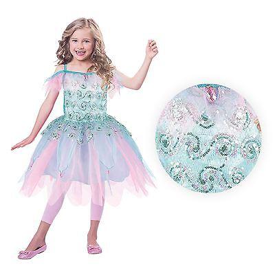 Deluxe Mädchen Meerjungfrau Aqua Fairy Kostüm Nymphe Fee Prinzessin Tutu