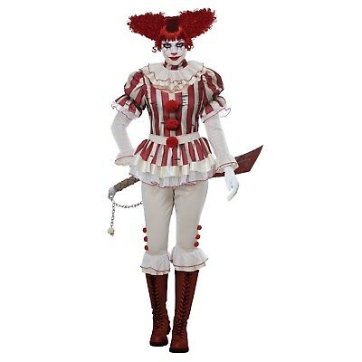 Female Clown Costumes (Sadistic Clown - Female Creepy Clown - Adult)