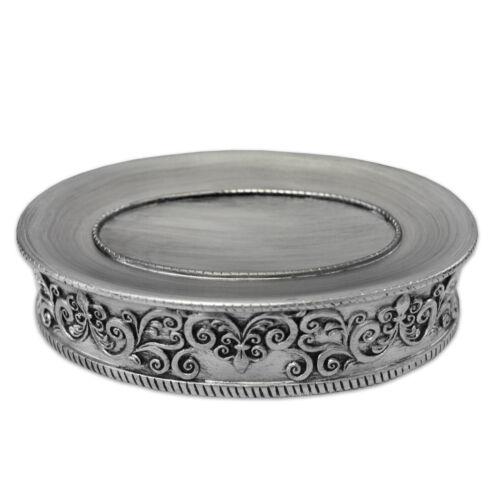 Popular Bath Murano Bathroom Resin Soap Dish – Silver Bath