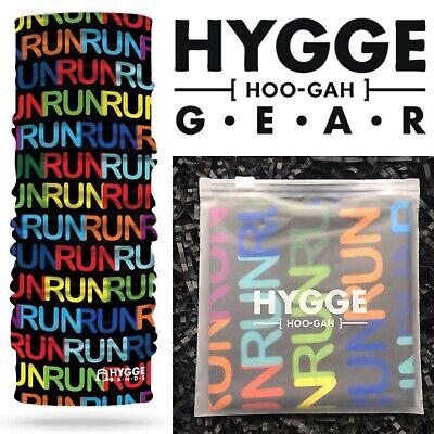 HYGGE Band HeadBand FUN RUN Face Covering Mask Head Bandana Gym Yoga Jog Sport