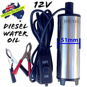 12v Submersible Transfer Pump Fuel Diesel Water Oil FAST POST & WARRANTY