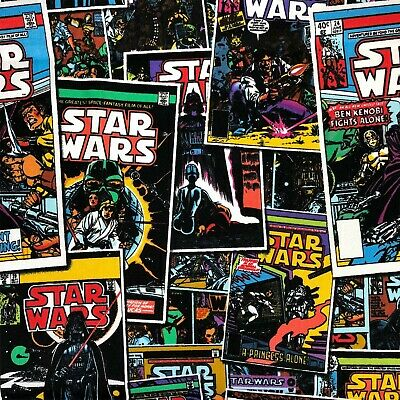 STAR WARS COMIC BOOK MAGAZINE 100% cotton fabric 44 inch/ 110cm space starwars