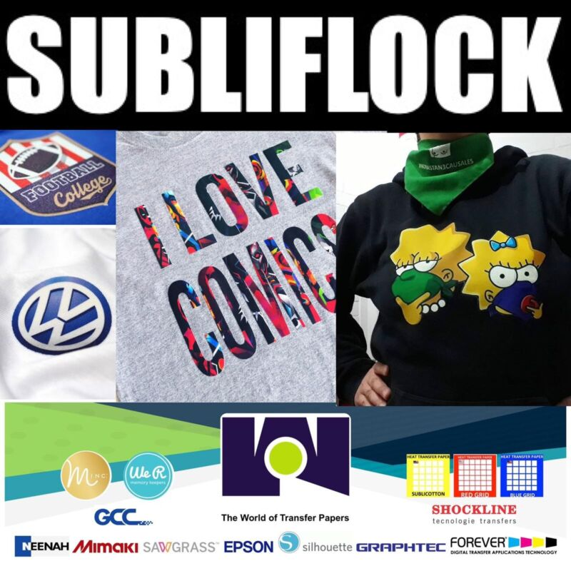 """SubliFlock - Transfer Paper - 10 sheets 8.5""""x11"""" Sawgrass Approved"""