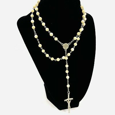Gift for her Long tassel and bead cluster necklace Crystal and pearl pendant necklace Recycled vintage Genuine handmade