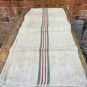 Beautiful Vintage Hemp Grain Sack Linen Hessian Material DIY Project Upholstery