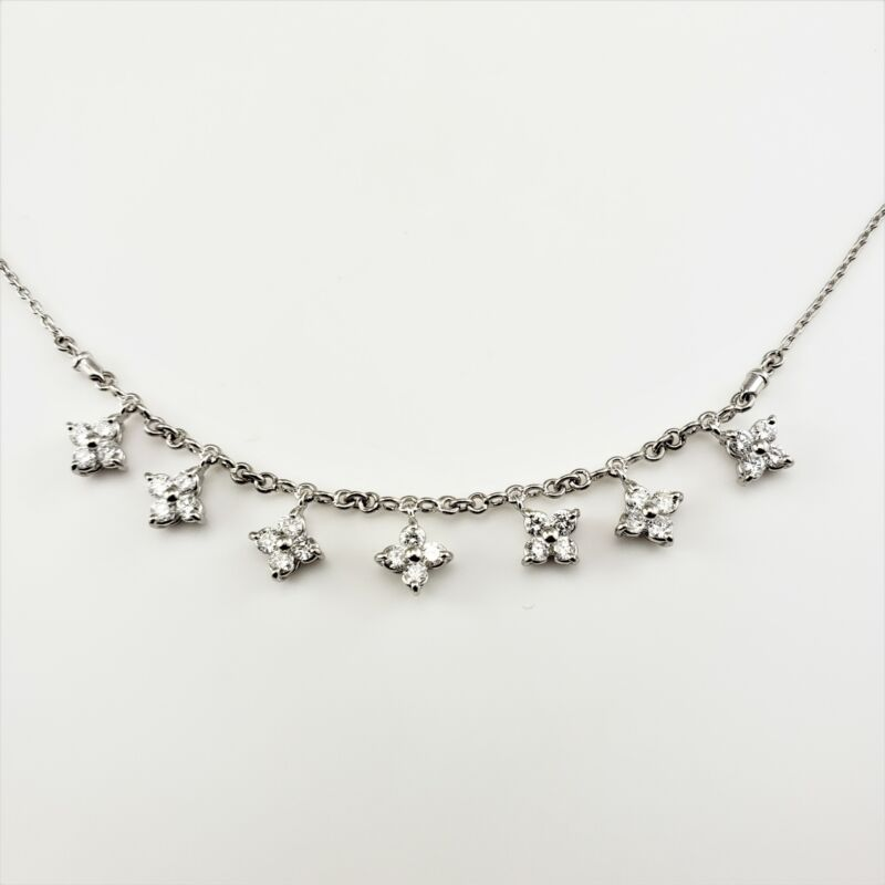 Vintage Platinum and Diamond Necklace #8148