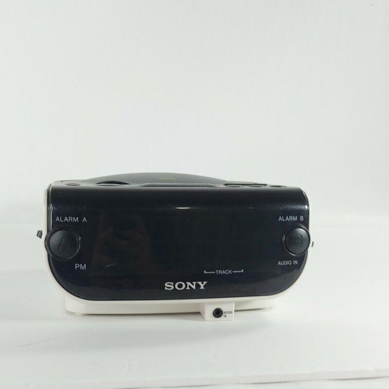 Sony Dream Machine ICF-CD814 AM/FM Stereo CD Clock Radio Dual Alarm TESTED WORKS
