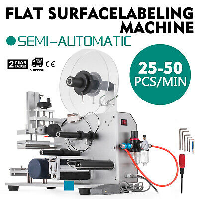Semi-automatic Labeller Lt-60 Labeling Machine 110v Plane Tool Cards Great