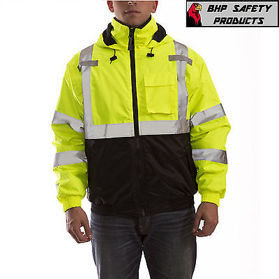 REFLECTIVE BOMBER II JACKET HI-VIZ WATERPROOF ANSI TINGLEY CLASS 3 J26112 SM-5X