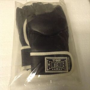 Black Top Contender MMA Training Gloves