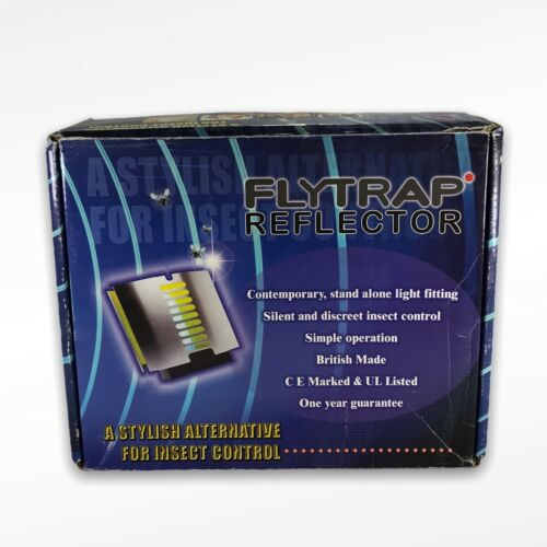 FLYTRAP REFLECTOR FOR INSECT CONTROL LIGHT TRAPS & BULB Fly Flies Silent