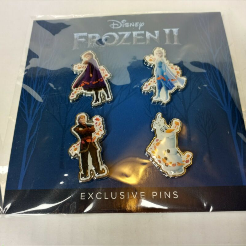 Disney Frozen 2 Disney Movie Club Exclusive Pin Set Anna Elsa Olaf - New Sealed