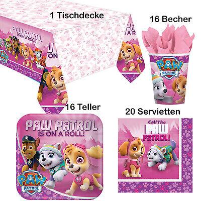 53 tlg Paw Patrol Set Deko Kindergeburtstag Party Pink Mädchen Girl Dekoration 1